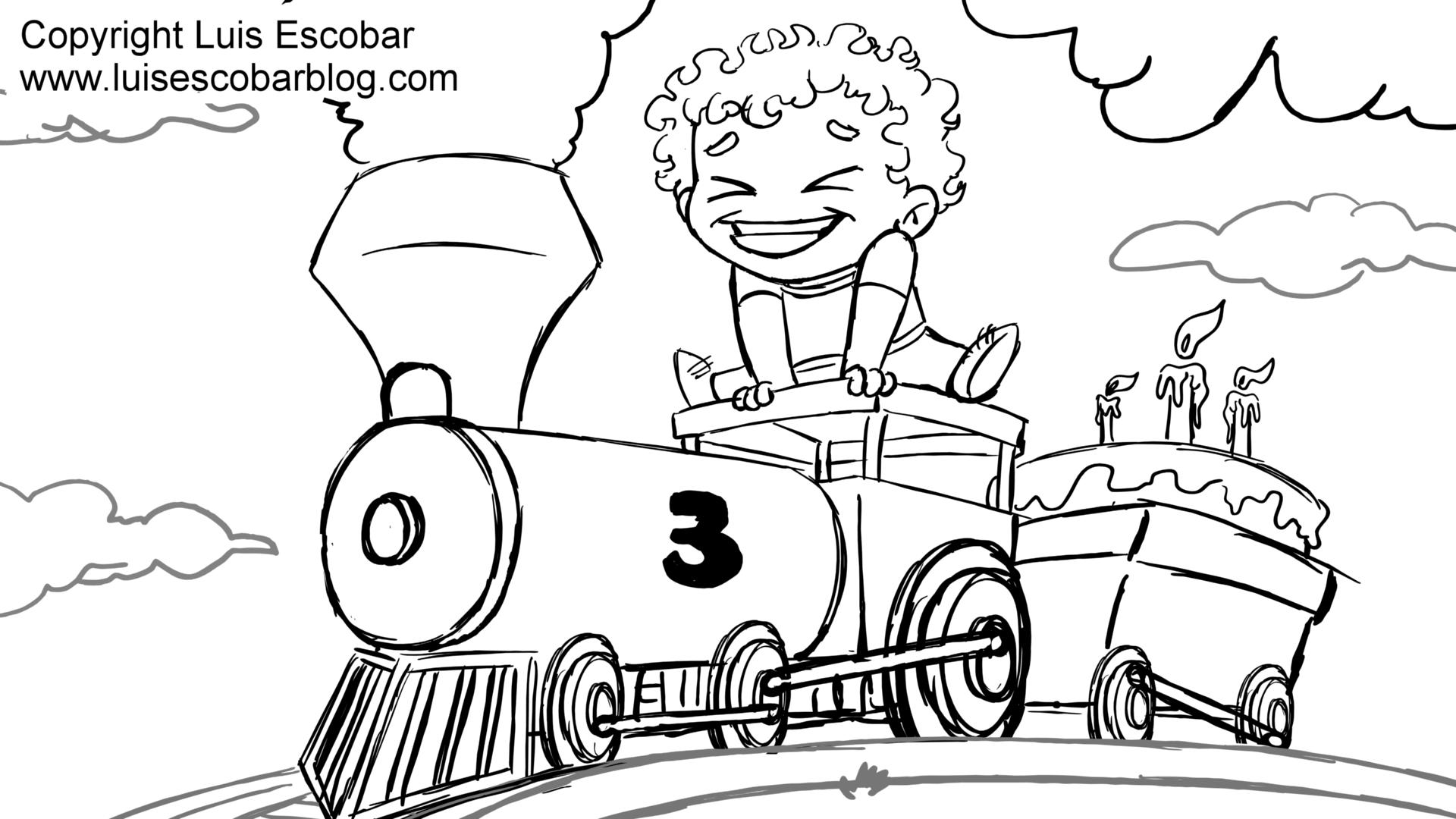 Amazing Thomas The Train Coloring Pages Birthday With