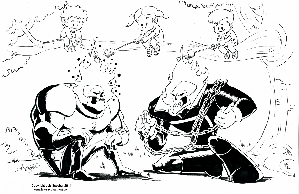 Ghost Rider vs. Atomic Skull | Luis' Illustrated Blog