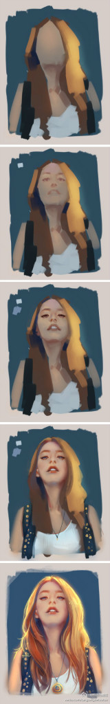 The other process painting from Pinterest
